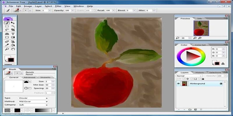 Artweaver free drawing software
