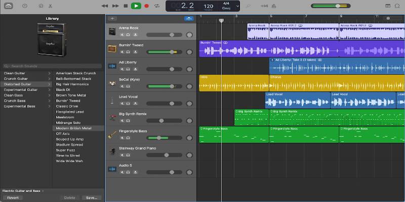 GarageBand podcast editing