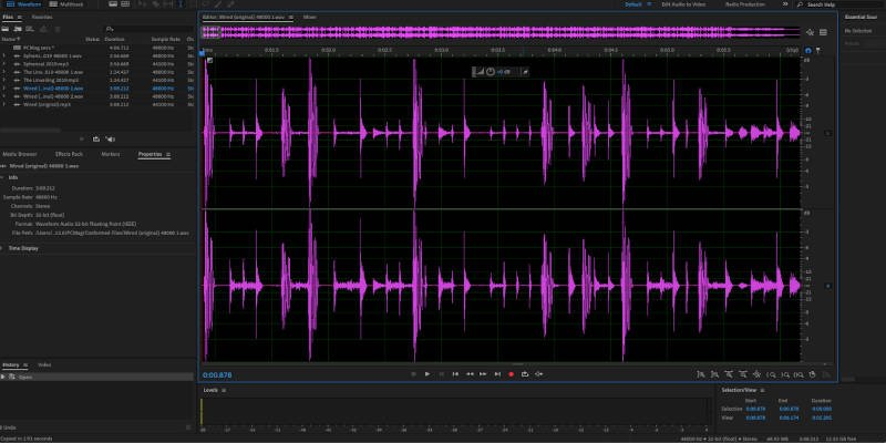 Adobe Audition podcast software