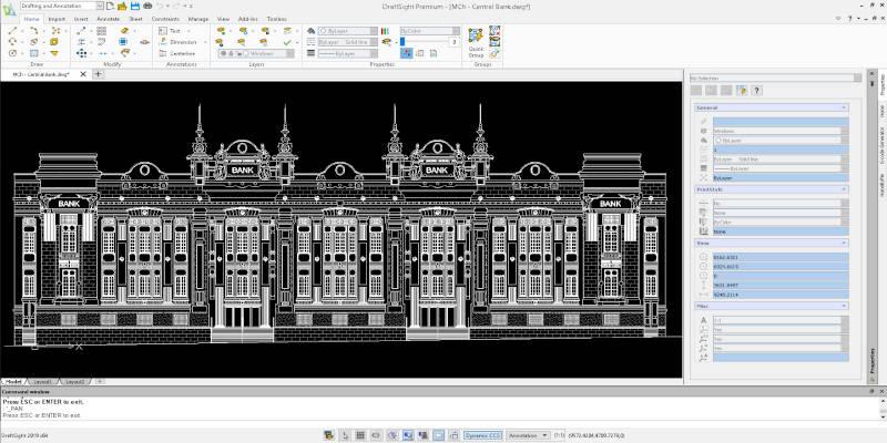 Draftsight 2D CAD software