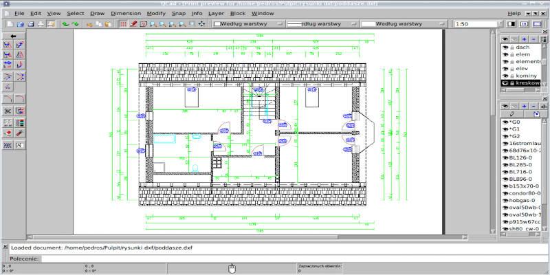 QCAD free 2d cad software