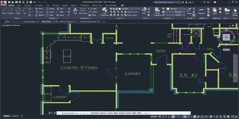 autocad cad drawing in 2d