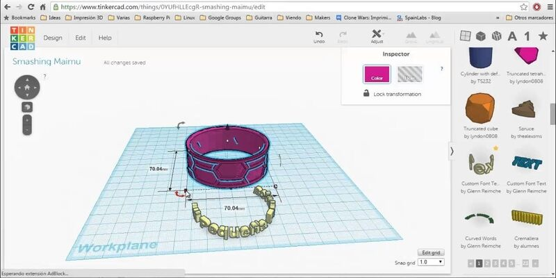 TinkerCAD jewelry design software